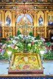 Incrocio cristiano all'altare Immagini Stock