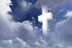 Incrocio cristiano bianco illustrazione vettoriale