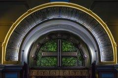 Incrocio dalla chiesa a Kiev Fotografie Stock Libere da Diritti