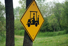 Incrocio del carrello di golf Fotografia Stock