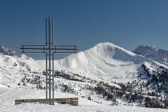 Incrocio del ferro sull'alta montagna Fotografia Stock Libera da Diritti