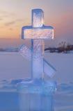 Incrocio del ghiaccio al tramonto Fotografia Stock Libera da Diritti