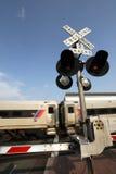 Incrocio del treno Immagini Stock Libere da Diritti