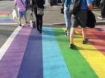 Incrocio dell'arcobaleno Fotografia Stock