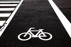incrocio della bicicletta fotografie stock