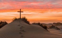 Incrocio della duna di sabbia Fotografie Stock