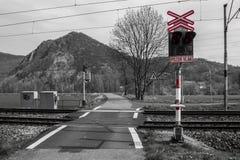 Incrocio della ferrovia, Fotografia Stock Libera da Diritti