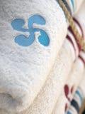 Incrocio della lavanderia dell'asciugamano basco Immagine Stock Libera da Diritti