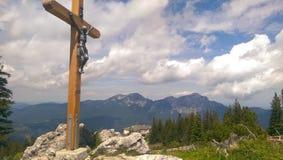 Incrocio della montagna Immagine Stock