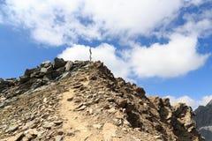 Incrocio della sommità sulla montagna Saulkopf, alpi di Hohe Tauern, Austria Fotografie Stock