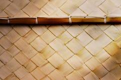 Incrocio di bambù tessuto struttura Immagini Stock
