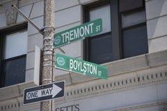 Incrocio di Boylston e di Tremont Immagini Stock Libere da Diritti