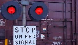 Incrocio di ferrovia Fotografia Stock