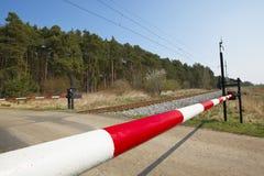 Incrocio di ferrovia immagine stock