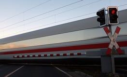 Incrocio di ferrovia Immagini Stock