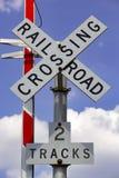 Incrocio di ferrovia Fotografie Stock Libere da Diritti