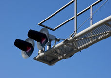 Incrocio di ferrovia ambientale Fotografie Stock