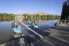 Incrocio di fiume del pontone Fotografia Stock