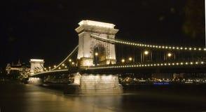 Incrocio di fiume di notte Fotografie Stock