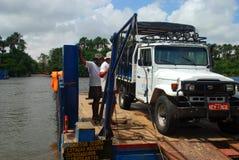 Incrocio di fiume di Preguiças Il ³ di Lençà è parco nazionale di Maranhenses, Maranhão, Brasile Fotografia Stock