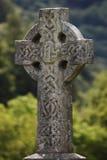 Incrocio di pietra, Glendalough Immagine Stock