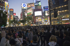 Incrocio di Shibuya, Tokyo Fotografia Stock Libera da Diritti