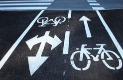 Incrocio di strada della bici di sicurezza Fotografie Stock Libere da Diritti