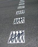 Incrocio di strada pedonale Fotografia Stock