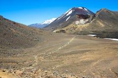 Incrocio di Tongariro, Nuova Zelanda Fotografie Stock