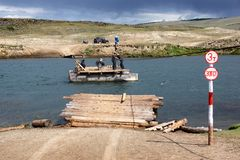 Incrocio di traghetto con la trasmissione manuale Fotografie Stock