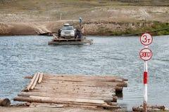 Incrocio di traghetto con la trasmissione manuale Fotografia Stock