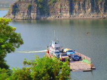 Incrocio di traghetto, Kamenets Podolskiy, Ucraina Fotografie Stock Libere da Diritti