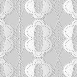 incrocio Dot Line Frame ovale rotondo della curva di arte del Libro Bianco 3D illustrazione di stock