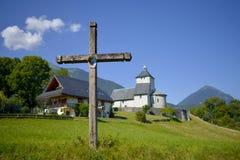 Incrocio e chiesa immagini stock