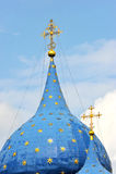 Incrocio e coppie alla cattedrale del Cremlino Immagine Stock