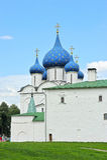 Incrocio e coppie alla cattedrale del Cremlino Immagini Stock Libere da Diritti