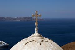 Incrocio e cupola. Fotografia Stock Libera da Diritti