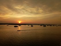 Incrocio il tramonto fotografie stock libere da diritti