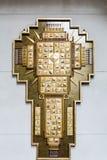 Incrocio intarsiato oro Fotografia Stock Libera da Diritti