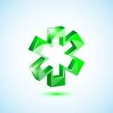 Incrocio medico verde dell'icona Fotografie Stock Libere da Diritti