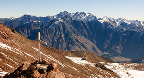 Incrocio nella montagna Fotografia Stock Libera da Diritti