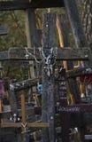 Incrocio ortodosso russo decorato Immagine Stock Libera da Diritti