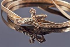 Incrocio ortodosso su una catena dell'oro Fotografia Stock Libera da Diritti