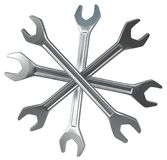 Incrocio quattro delle chiavi Immagini Stock Libere da Diritti