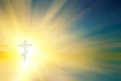 Incrocio religioso fotografia stock