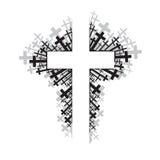 Incrocio religioso Immagini Stock