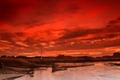 Incrocio rosso del cielo Immagini Stock Libere da Diritti