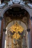 Incrocio in San Petronio Basilica, Bologna, Italia Immagine Stock Libera da Diritti