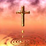 Incrocio santo dorato illustrazione di stock