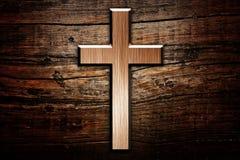 Incrocio su legno Fotografia Stock Libera da Diritti